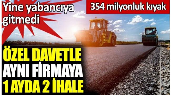 AKP iktidarının müteahhitlerinden Taşyapıya, şimdi de 204.3 milyon liralık yeni bir yol ihalesi yine özel davetle verildi.