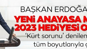 Başkan Erdoğandan TBMMde yeni anayasa mesajı: En güzel 2023 hediyesi olacaktır